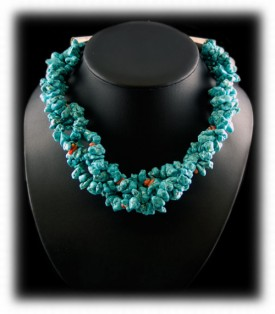 Free Awards Turquoise Bead Necklace