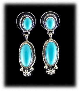 Free Sleep Beauty Turquoise Dangle Earrings