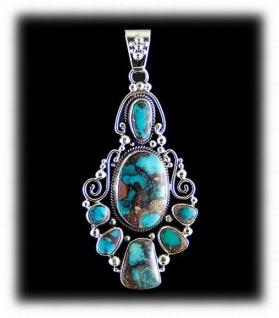 Gem Bisbee Turquoise Pendant