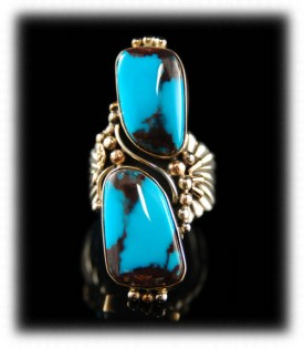 Bisbee Turquoise Jewelry in Gold