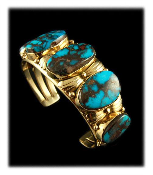 Gold Turquoise Bracelet