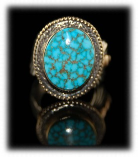 Gold Turquoise Jewelry with Kingman Turquoise