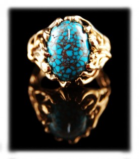 Gold Turquoise Jewelry Ring