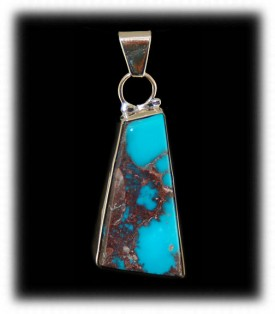 Bezel Set Bisbee Turquoise in 14ky Gold
