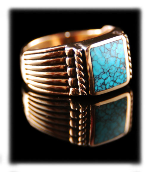 gold turquoise rings