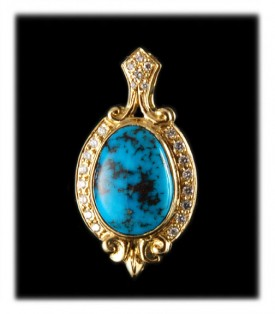 Gold Turquoise Pendant