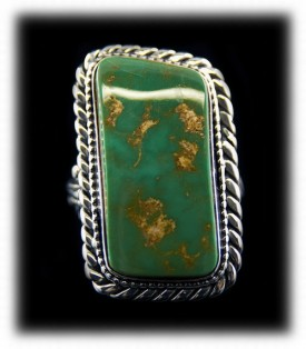 Green Mens Turquoise Ring