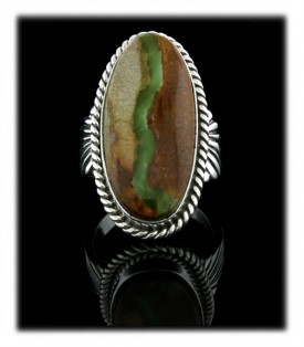 Green Boulder Turquoise Ring