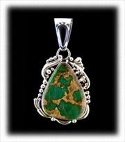 Green Royston Turquoise Pendant
