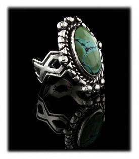 Green Tibetan Turquoise Ring