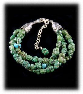 Chunky Green Turquoise Nugget Beaded Bracelets