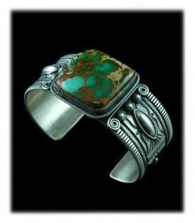 Green Turquoise Cabochon Bracelet