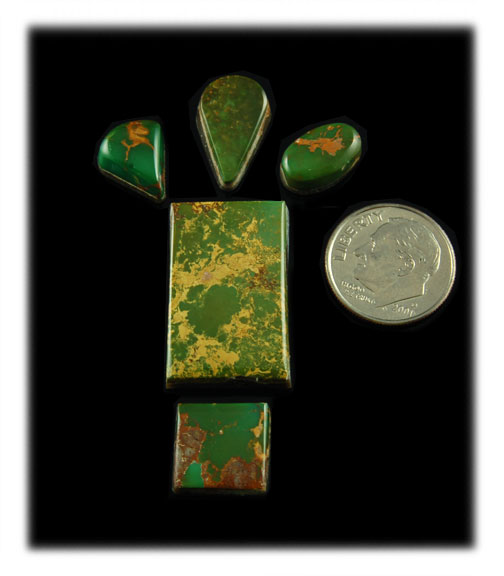 Green Turquoise Cabochons