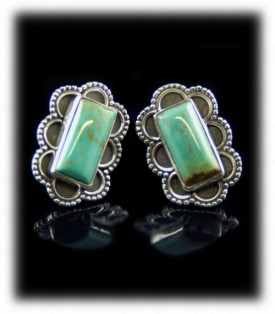 Green Turquoise Earrings - Turquoise Post Earrings