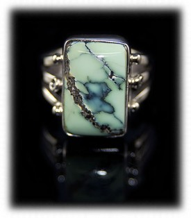 Broken Arrow Turquoise Silver Ring
