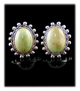 Green American Turquoise Stud Earrings