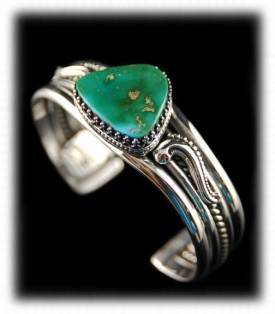Handcrafted Silver and Turquoise Bracelet