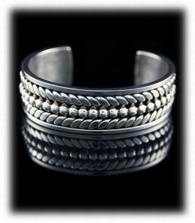 Handmade Mens Silver Bracelet