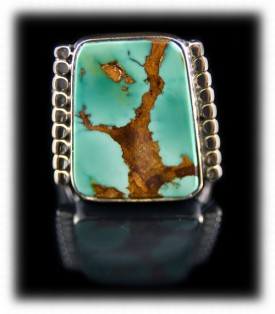 Handmade Mens Silver Jewelry with Turquoise