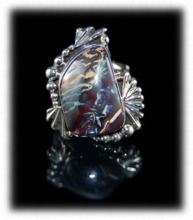 Boulder Opal - Handmade Sterling Silver Rings