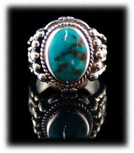 Handmade Silver Ring with Turquoise