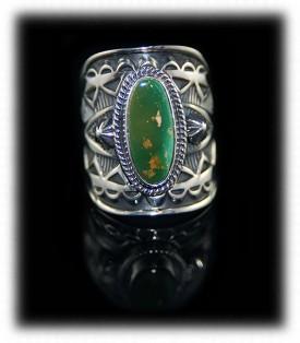 Handstamped Navajo Silver Ring