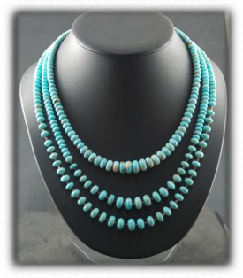 Blue Gem Turquoise Heirloom Turquoise Bead Jewelry