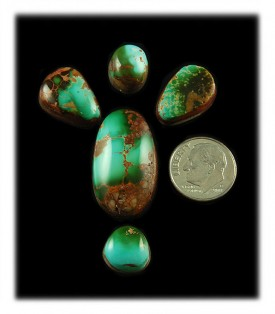 Natural Royston Turquoise Cabochons