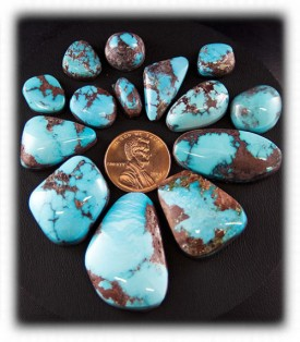 High Grade Bisbee Turquoise Cabochons