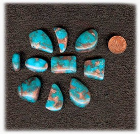 Lot A Bisbee Turquoise Cabochons