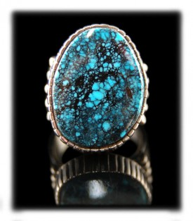 Indian Blue Turquoise Ring