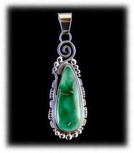 Navajo Indian Jewelry - Broken Arrow Turquoise Pendant