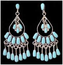 Indian Turquoise Jewelry Earrings