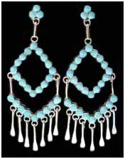 Zuni Indian Turquoise Earrings