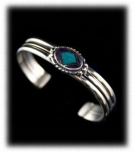 Bisbee Turquoise Inlaid Cuff Bracelet