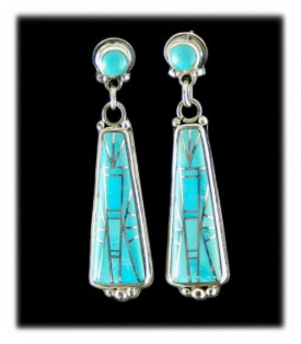 Inlaid Earrings with Sleeping Beauty Turquoise