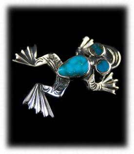 Bisbee Turquoise Frog Pendant Inlay