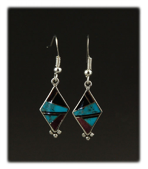Inlay Dangle Earrings