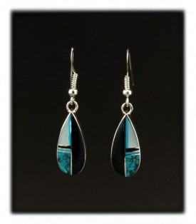 Inlay Drop Earrings