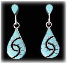 inlay turquoise jewelry earrings