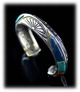 Turquoise Inlay Mens Bracelet