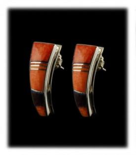 Inlay Post Earrings - Hoops