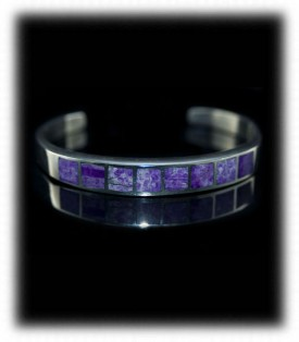 Inlay Sugilite Bracelet and Jewelry by Durango Silver Company