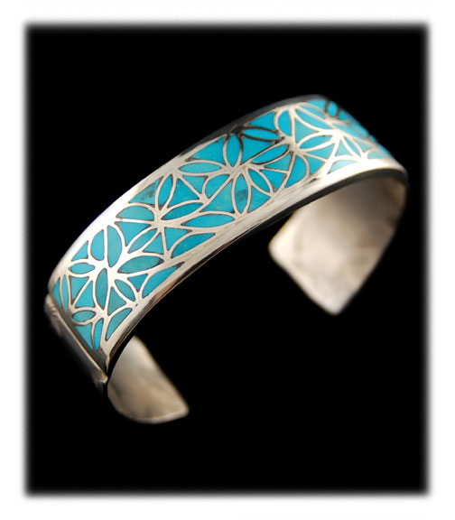 Sleeping Beauty Turquoise Inlay Jewelry