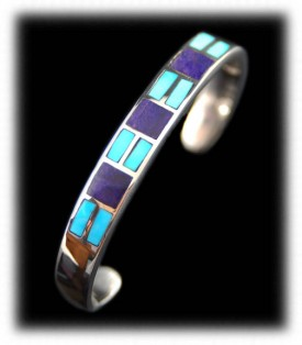 Womens inlay turquoise bracelet