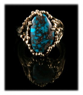 Bisbee Turquoise Gold Ring