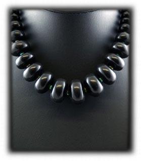 Black Jet Bead Necklace
