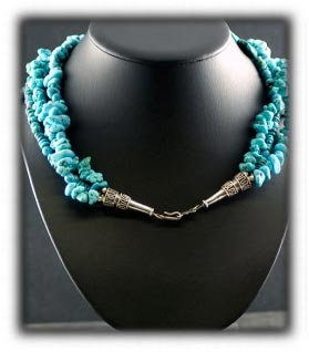 Tibetan and Kingmand Turquoise Beaded Necklace