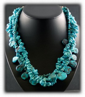 Chunky Turquoise Beaded Necklace