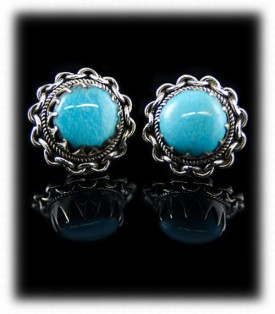 Kingman Post Turquoise Earrings